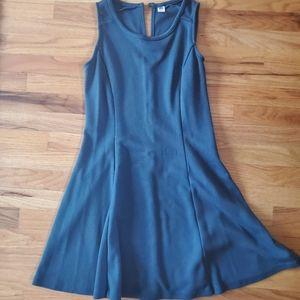 Old navy sleeveless navy mini dress think fabric
